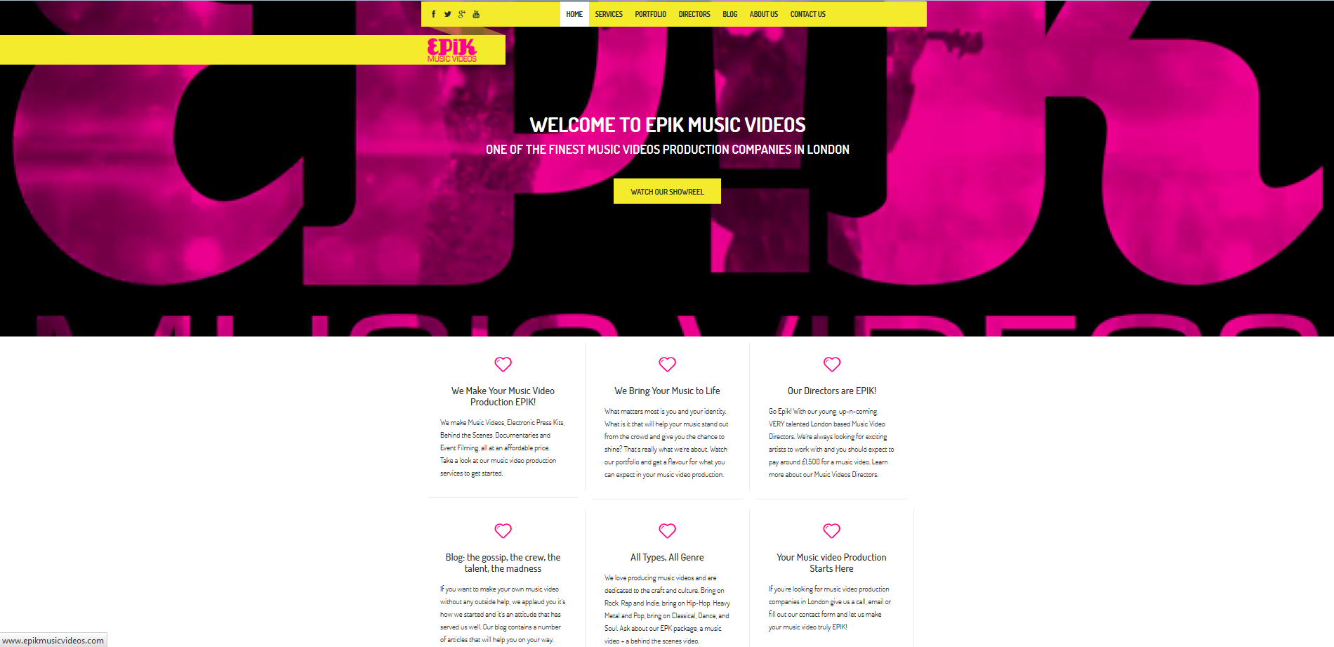 EPiK Music Videos: Marketing & Web Design Epik
