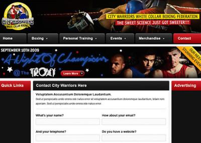 Training Video city-warriors-website-design-400x284