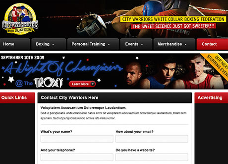 City Warriors: Website Design and Promo